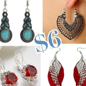 EARRINGS DIFFERENT STYLES AND COLORS